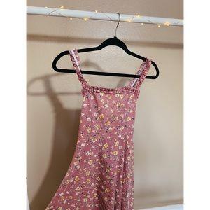 Cross open-back, pink flower sundress